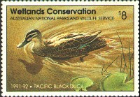 Australia Duck Stamp 1991 Pacific Black Duck