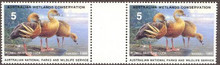 Australia Duck Stamp 1989 Plumed Whistling Duck Gutter pair