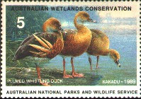 Australia Duck Stamp 1989 Plumed Whistling Duck
