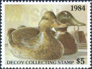 Decoy Collecting Duck Stamp 1984 Mason Mallards