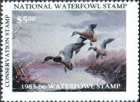 National Waterfowl Alliance Duck Stamp 1985 Mallards Conservation Stamp