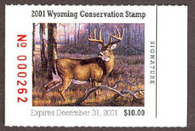 Wyoming Duck Stamp 2001 White - Tailed Deer