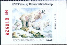 Wyoming Duck Stamp 1997 Rocky Mountain Goats
