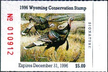 Wyoming Duck Stamp 1996 Turkey