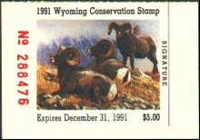 Wyoming Duck Stamp 1991 Big Horn Sheep