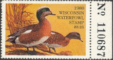 Wisconsin Duck Stamp 1980 American Wigeon