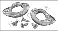 L4116 ROPE EYE OVAL SET, COPING MOUNT CH CHROME W/SCREWS   CMP 25568-700