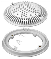 "N1500 HAYWARD 8"" F & G A.V. WHITE 2 PACK GRATE ANTI-VORTEX (SET OF 2)"