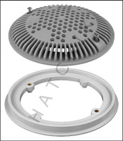 "N1502 HAYWARD 8"" F & G A.V. GRAY 2 PACK GRATE ANTI-VORTEX (SET OF 2)"