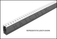 T1516 STEGMEIER DECK DRAIN 10' WHITE WHITE 10'  8/CS REMOVEABLE CAP