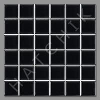 "T4004 TILE - SQ-1022G GLOSSY MATT BLACK 2""X2"" (25 SHEETS/CS)"