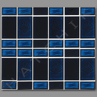 T4057 TILE - SHELL SERIES  SL-30 COBALT BLUE (NEW) 25 SHTS/CS