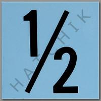 T4130 CERAMIC DEPTH MARKER BLUE #1/2 NUMBER 1/2 - BLUE