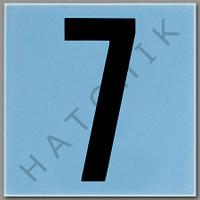 T4137 CERAMIC DEPTH MARKER BLUE #7 NUMBER 7 - BLUE
