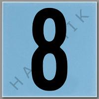 T4138 CERAMIC DEPTH MARKER BLUE #8 NUMBER 8 - BLUE