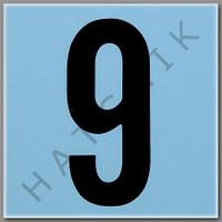 T4139 CERAMIC DEPTH MARKER BLUE #9 NUMBER 9 - BLUE