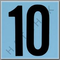 T4140 CERAMIC DEPTH MARKER BLUE #10 NUMBER 10 - BLUE