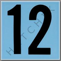 T4142 CERAMIC DEPTH MARKER BLUE #12 NUMBER 12 - BLUE