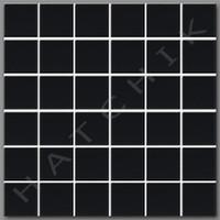 """T4284 TILE - SQ-1022 MATT BLACK 2""""X2"""" (25 SHEETS/CS)      ***********************"""
