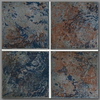 T4361 TILE-AZTEC SERIES #AZ-BLUE COLOR:COBALT 6X6 (25/CS FROM NPT)