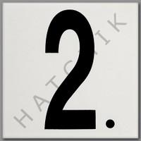 "T4502 CERAMIC DEPTH MARKER # ""2."" BLACK ON WHITE - SMOOTH"