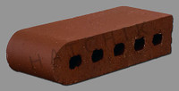 "T7030 BRICK COPING  SBN  BURGUNDY 3-1/2"" X 2-3/16"" X 9"" KORD"