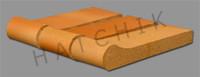 T7064 BRICK COPING - SAFETY GRIP SALTILLO 3-5/8X 1-1/4X 12-1/2
