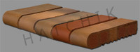 T7118 BRICK COPING-SBN-AUTUMN LEAVES 3-5/8 X 11-5/8 X 2-1/4  #350