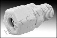 """C2000 POLY FITTING 1/4"""" MPT X 1/4"""" TUBE COMPRESSION MA"""