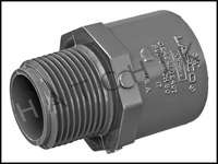 """U7207 MALE ADAPTOR SCH 80 3/4"""" MPT X SLIP 836-007"""
