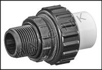 """U7570 UNION CPVC MPT X F-SLIP  3/4"""" W/O-RING"""