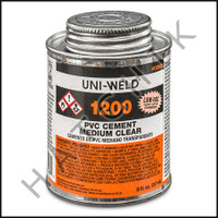 V1001 PVC CEMENT 1/2 PINT CLEAR