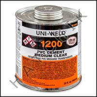 V1003 PVC CEMENT QUART CLEAR