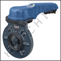 "V1400 PLASTIC WAFER VALVE - 2"" WITH HANDLE  (V1501)"
