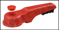 """V1433 ASAHI 3""""or 4"""" PLAS REPL.HANDLE FOR PVC WAFER VALVE OLD STYLE(RED)"""