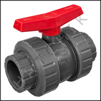 V1493 TVI TRUE UNION/SAFETY BLOCK 2-1/2 BALL VALVE  SLIP X SLIP  PVC