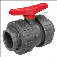 V1496 TVI TRUE UNION/SAFETY BLOCK 3 BALL VALVE  SLIP X SLIP  PVC