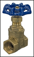 V1605 BRONZE GATE VALVE - 1/2 THREADED THREADED