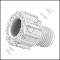 V5002 PLUG PVC THREADED  1/4