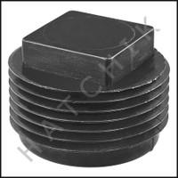 "V5010 PLASTIC PLUG ""C"" 1"" BLACK"