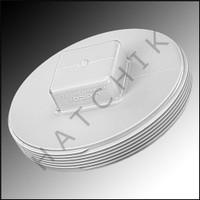 "V5060 PLASTIC PLUG - 6"" WHITE SQUARE HEAD SQUARE HEAD"