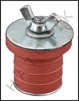 V5410 RED CLOSED TEST PLUG 1-1/4