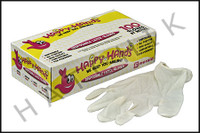 V7086 DISPOSABLE LATEX GLOVES (100/BOX) (100/BOX)