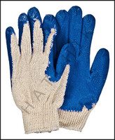 V7098 VINYL PALM GLOVES - BLUE