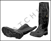 V7120 RUBBER KNEE BOOTS 16 SIZE 8 SIZE 8    COLOR: BLACK