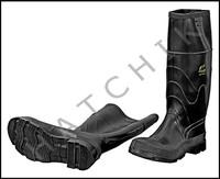 V7121 RUBBER KNEE BOOTS 16 SIZE 9 SIZE 9    COLOR: BLACK