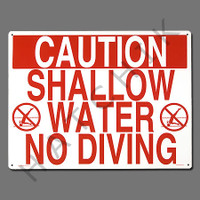 "X4016 SIGN-""SHALLOW WATER-NO DIVING"" #40341"