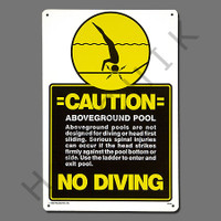 "X4017 SIGN-""A/G POOL NO DIVING"" #40346 #40346"