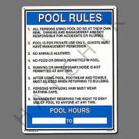 "X4026 SIGN-""COMM. POOL RULES"" #40322 #40322"