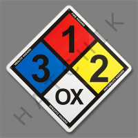 X4027 CHEMICAL SIGN (ALUMINUM)